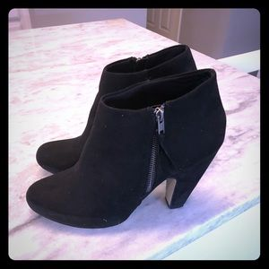 Madden Girl Black Suede Booties